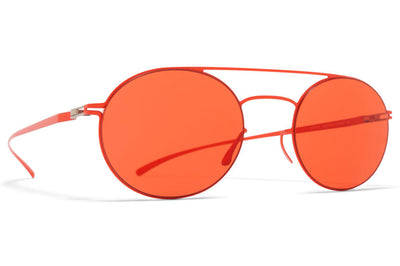MYKITA + Maison Margiela - MMESSE019 Sunglasses E18 Baywatch Red, Ultra Red Solid