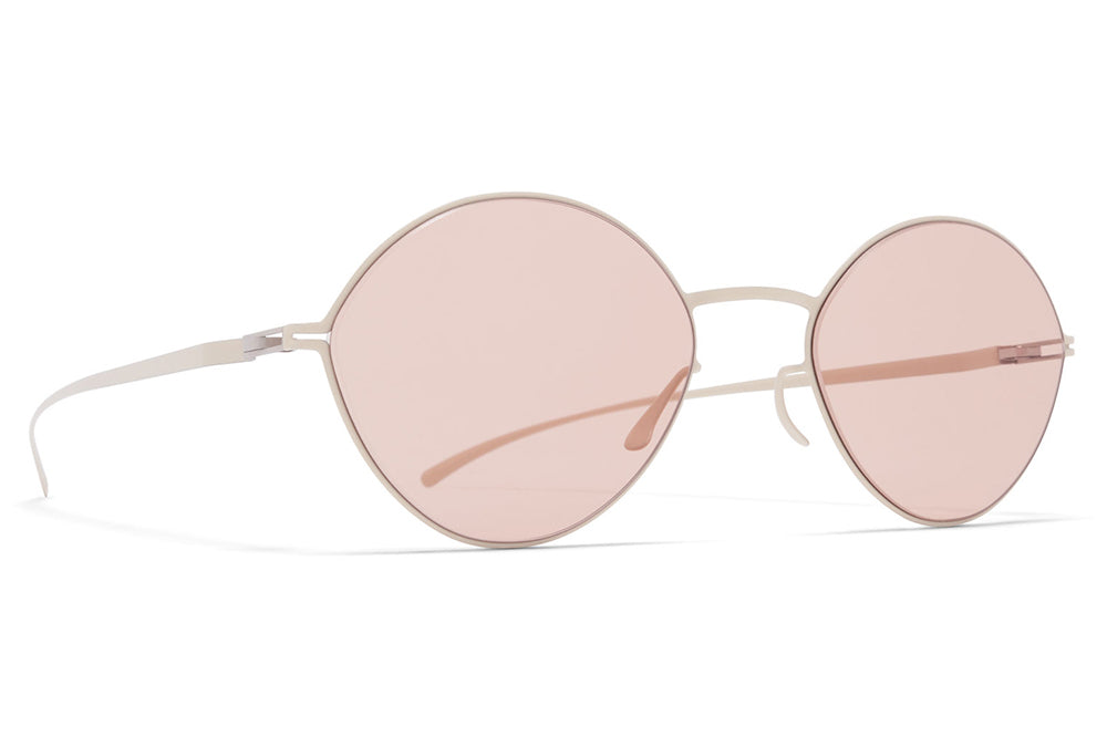 MYKITA + Maison Margiela - MMESSE020 Sunglasses E14 Beige with Nude Solid Lenses