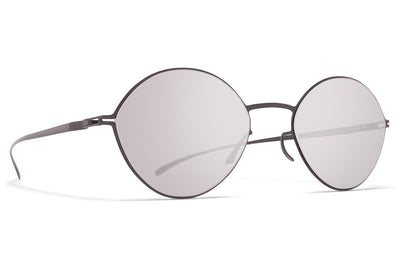 MYKITA + Maison Margiela - MMESSE020 E15 Shiny Graphite with Warm Grey Flash Lenses