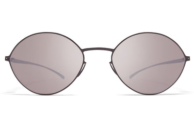 MYKITA + Maison Margiela - MMESSE020 Sunglasses E6 Dark Grey with Dark Purple Flash Lenses