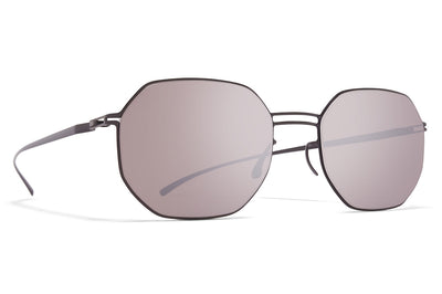 MYKITA + Maison Margiela - MMESSE021 Sunglasses E6 Dark Grey with Dark Purple Flash Lenses