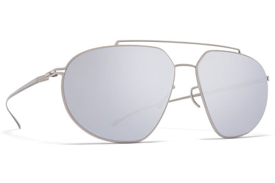 MYKITA + Maison Margiela - MMESSE022 Sunglasses E1 Silver with Silver Flash Lenses