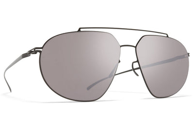 MYKITA + Maison Margiela - MMESSE022 Sunglasses E6 Dark Grey with Dark Purple Flash Lenses