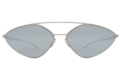 MYKITA + Maison Margiela - MMESSE023 Sunglasses E1 Silver with Silver Flash Lenses