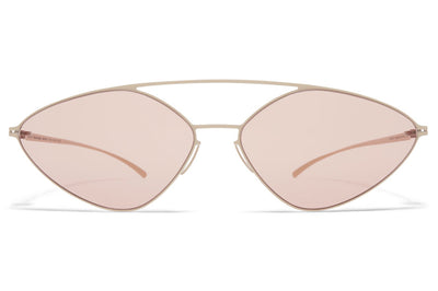 MYKITA + Maison Margiela - MMESSE023 Sunglasses E14 Beige with Nude Solid Lenses