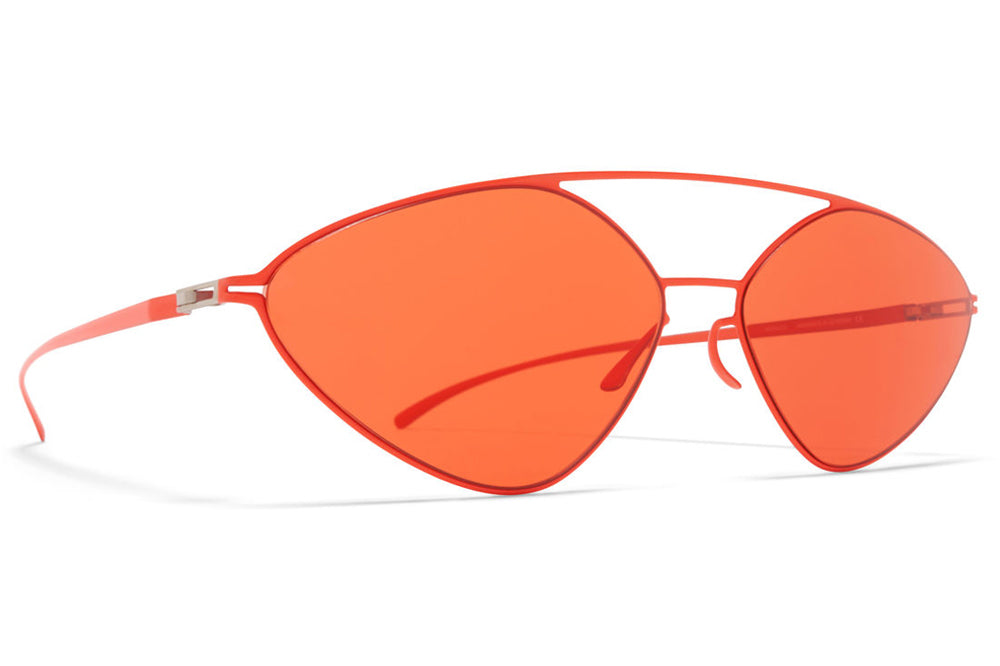 MYKITA + Maison Margiela - MMESSE023 Sunglasses E18 Baywatch Red with Ultra Red Solid Lenses