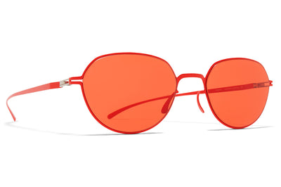 MYKITA + Maison Margiela - MMESSE024 Sunglasses E18 Baywatch Red with Ultra Red Solid Lenses