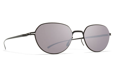 MYKITA + Maison Margiela - MMESSE024 Sunglasses E6 Dark Grey with Dark Purple Flash Lenses