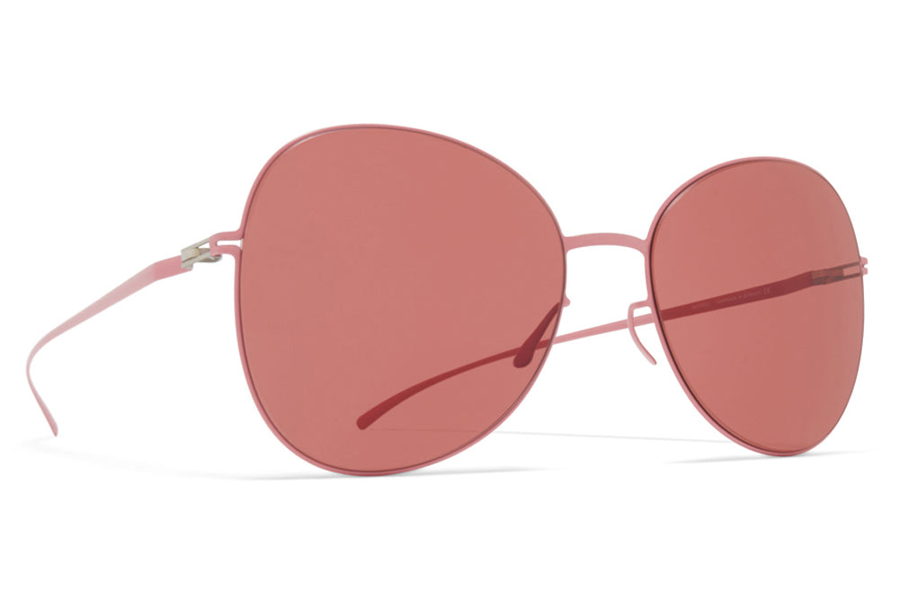 MYKITA + Maison Margiela - MMESSE025 Sunglasses E17 Candy Rose with Purple Solid Lenses