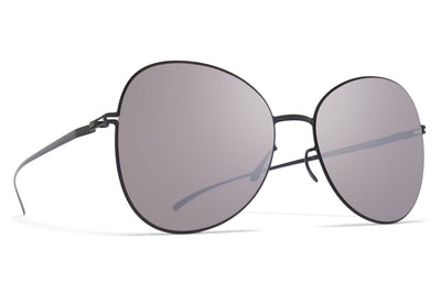 MYKITA + Maison Margiela - MMESSE025 Sunglasses E6 Dark Grey with Dark Purple Flash Lenses