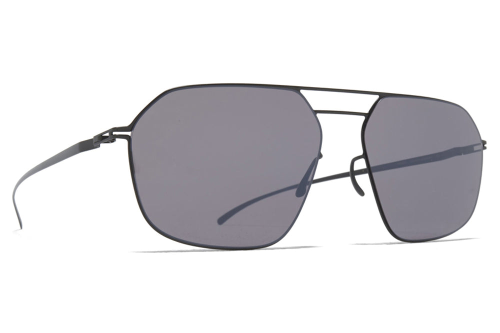 MYKITA + Maison Margiela - MMESSE026 Sunglasses E6 Dark Grey with Dark Purple Flash Lenses