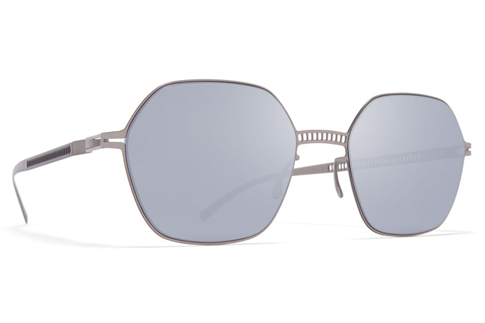 MYKITA + Maison Margiela - MMESSE028 Sunglasses E1 Silver with Silver Flash Lenses