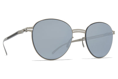 MYKITA + Maison Margiela - MMESSE029 Sunglasses E1 Silver with Silver Flash Lenses