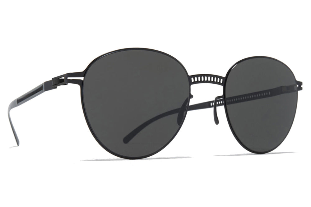 MYKITA + Maison Margiela - MMESSE029 Sunglasses E4 Black with Dark Grey Solid Lenses