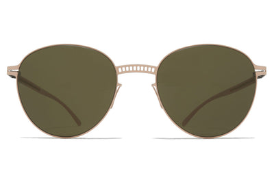 MYKITA + Maison Margiela - MMESSE029 Sunglasses E9 Nude with Raw Green Solid Lenses