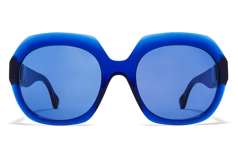 MYKITA + Maison Margiela - MMMONO Sunglasses All Blue with All Blue Solid Lenses