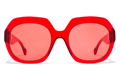 MYKITA + Maison Margiela - MMMONO Sunglasses All Red with All Red Solid Lenses