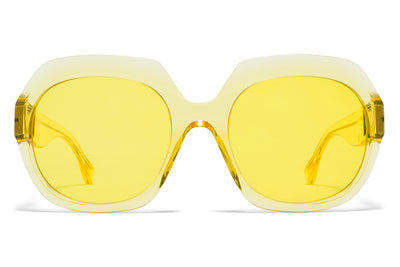 MYKITA + Maison Margiela - MMMONO Sunglasses All Yellow with All Yellow Solid Lenses
