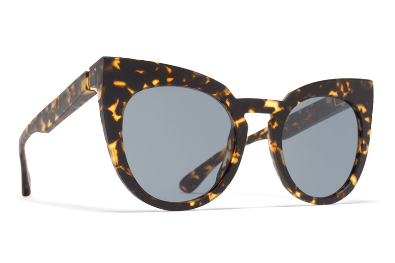 MYKITA + Martin Margiela - MMRAW005 Raw Trinidad with Dark Blue Solid Lenses