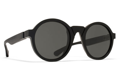 MYKITA + Martin Margiela - MMRAW006 Sunglasses Raw Black with Dark Grey Solid Lenses