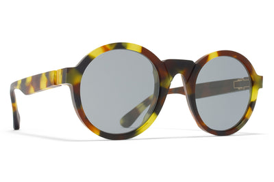 MYKITA + Martin Margiela - MMRAW006 Sunglasses Raw Mardi Gras with Dark Blue Solid Lenses