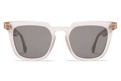 MYKITA + Maison Margiela - MMRAW008 Raw Champagne with Grey Solid Lenses
