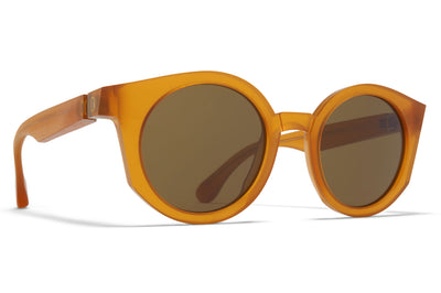MYKITA + Maison Margiela - MMRAW013 Sunglasses Raw Amber with Raw Brown Solid Lenses