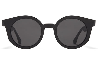 MYKITA + Maison Margiela - MMRAW013 Sunglasses Raw Black with Dark Grey Solid Lenses