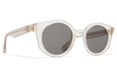 MYKITA + Maison Margiela - MMRAW013 Sunglasses Raw Champagne with Grey Solid Lenses