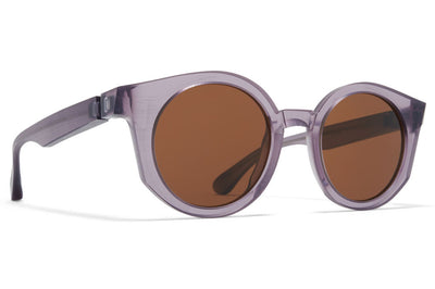 MYKITA + Maison Margiela - MMRAW013 Sunglasses Raw Smoke with Brown Solid Lenses