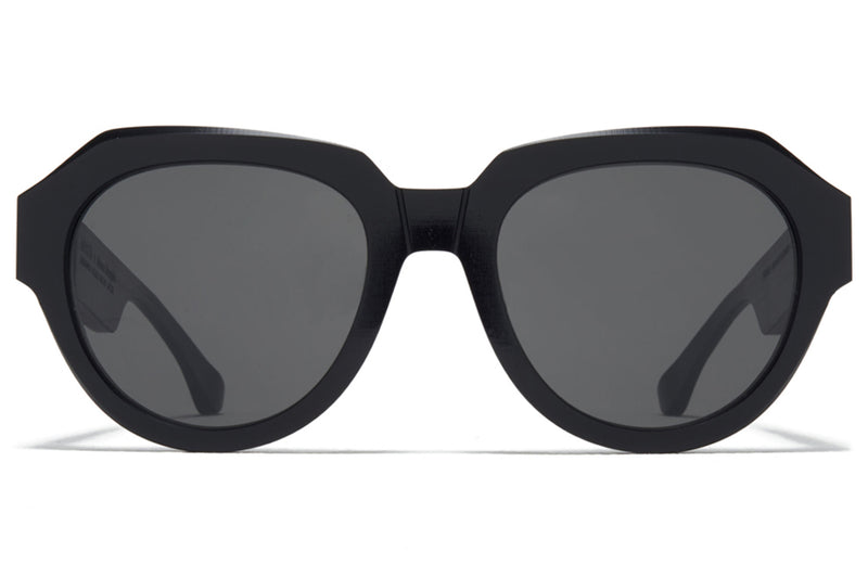MYKITA + Maison Margiela - MMRAW014 Sunglasses Raw Black with Dark Grey Solid Lenses
