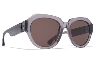 MYKITA + Maison Margiela - MMRAW014 Sunglasses Raw Smoke with Brown Solid Lenses