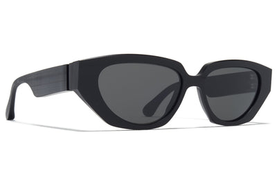 MYKITA + Maison Margiela - MMRAW015 Sunglasses Raw Black with Dark Grey Solid Lenses
