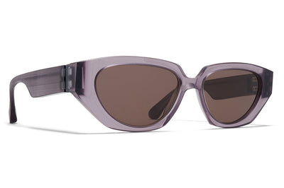 MYKITA + Maison Margiela - MMRAW015 Sunglasses Raw Smoke with Brown Solid Lenses