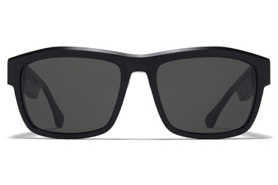 MYKITA + Maison Margiela - MMRAW017 Sunglasses Raw Black with Dark Grey Solid Lenses