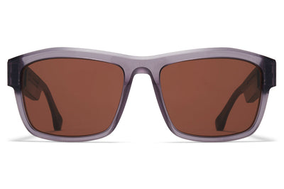 MYKITA + Maison Margiela - MMRAW017 Sunglasses Raw Smoke with Brown Solid Lenses