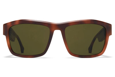 MYKITA + Maison Margiela - MMRAW017 Sunglasses Raw Zanzibar with Raw Green Solid Lenses