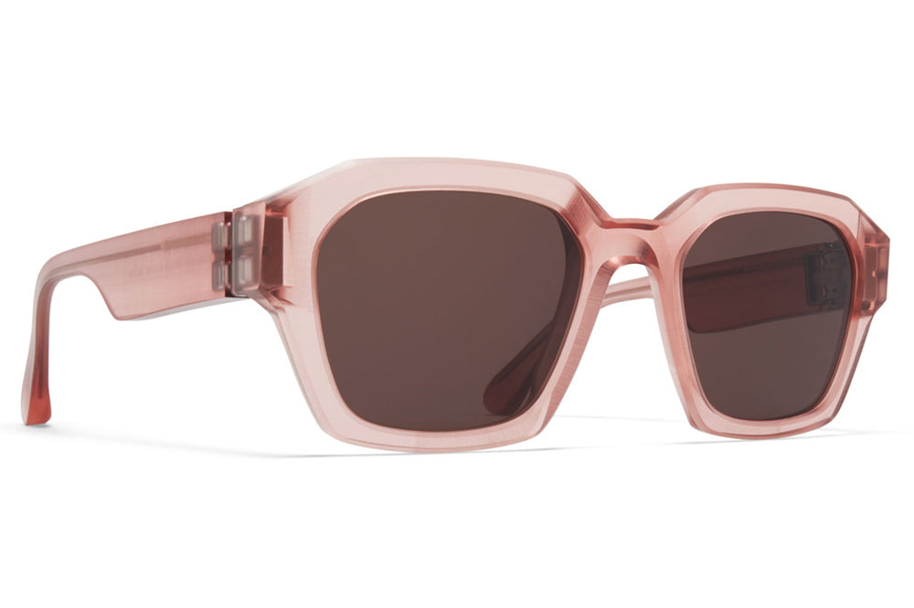 MYKITA + Maison Margiela - MMRAW019 Sunglasses Raw Melrose with Brown Solid Lenses
