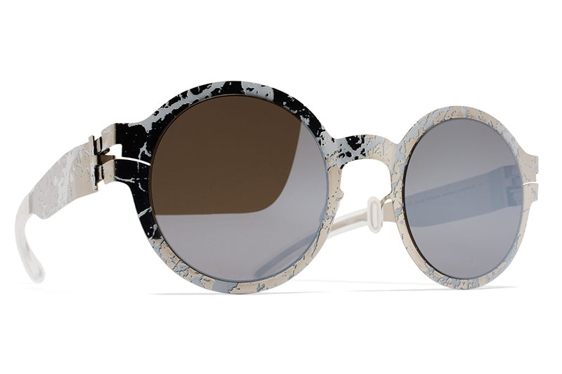 MYKITA + Maison Margiela - MMTRANSFER003 Silver/White Stone with Brown Flash Lenses