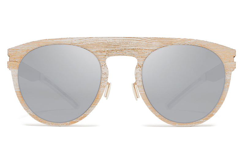 MYKITA + Maison Margiela - MMTRANSFER004 Rose Gold/White Grey Pine with Brown Flash Lenses