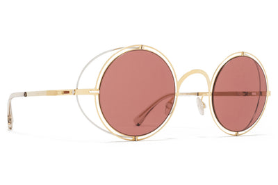 MYKITA + Maison Margiela - MMCRAFT001 Silver/Glossy Gold with Purple Solid Lenses