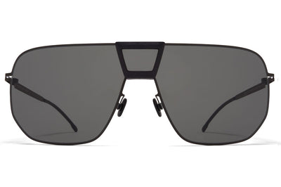MYKITA Mylon - Cayenne Sunglasses MH1 - Black/Pitch Black with Dark Grey Solid Shield