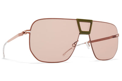MYKITA Mylon - Cayenne Sunglasses MH37 - Khaki/Shiny Copper with Nude Solid Shield