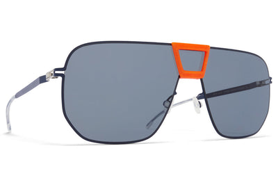 MYKITA Mylon - Cayenne Sunglasses MH38 - Orange/Navy with Dark Blue Solid Shield