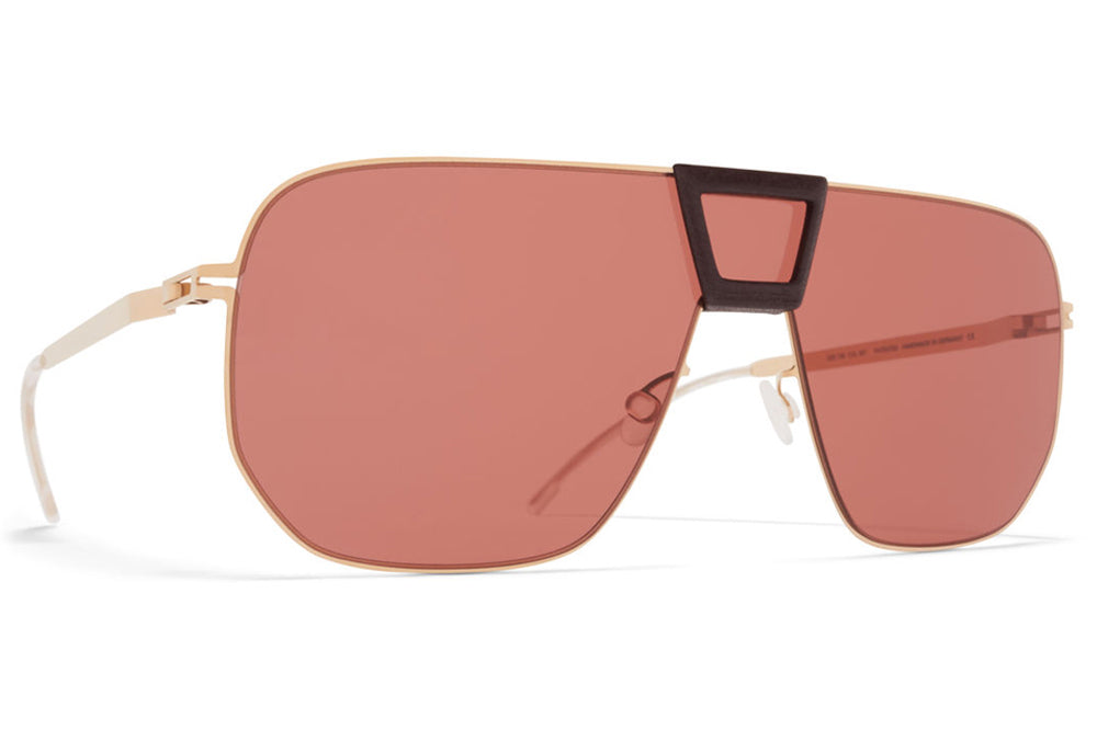 MYKITA Mylon - Cayenne Sunglasses MH8 - Ebony Brown/Champagne Gold with Purple Solid