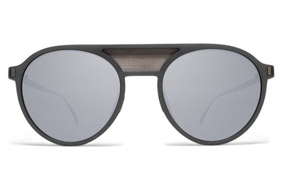 MYKITA Mylon Sunglasses - Damson MME5 - Storm Grey/Graphite Mesh with Light Silver Flash Lenses