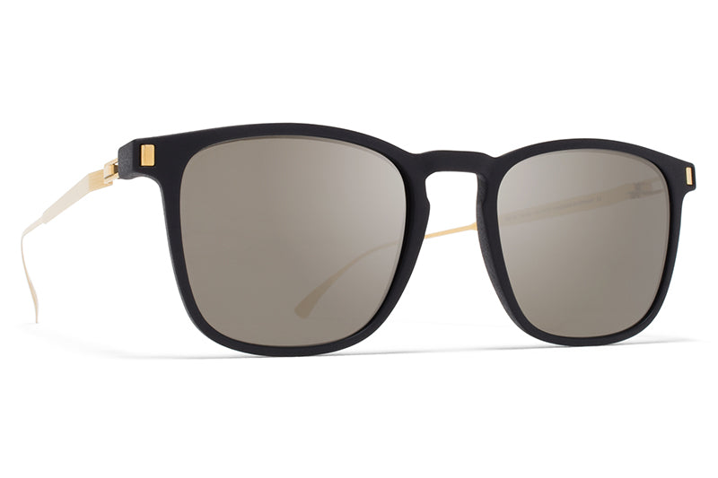 MYKITA Mylon - Jujubi Sunglasses MH6 - Pitch Black/Black with Mirror Black Lenses