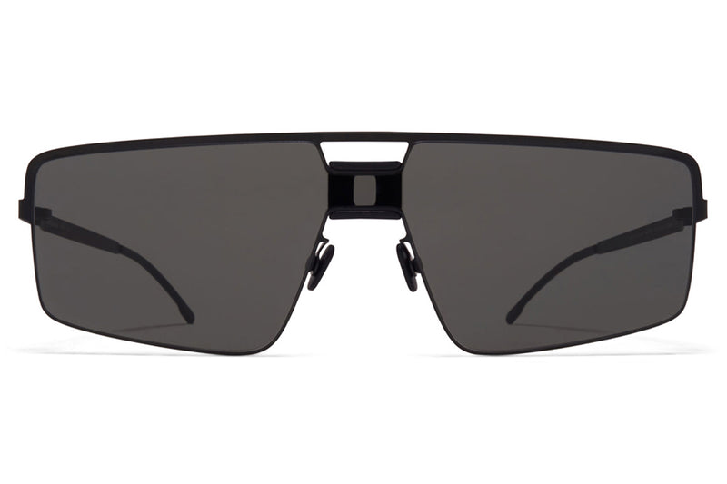 MYKITA Mylon - Soy Sunglasses MH1 - Black/Pitch Black with Dark Grey Solid Shield