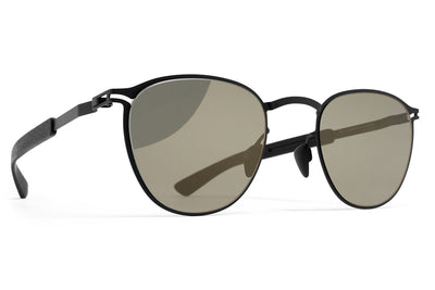 MYKITA Mylon Sunglasses - Clove MH1 - Black/Pitch Black with Gunmetal Flash Lenses