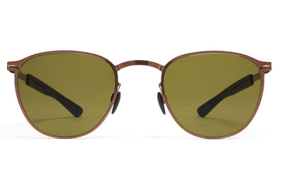 MYKITA Mylon Sunglasses - Clove MH2 - Gold/Ebony Brown with Sienna Brown Flash Lenses